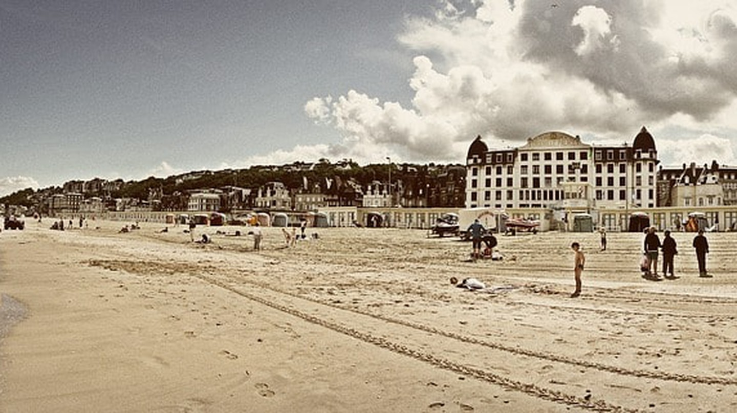 Trouville Beach in Deauville, Normandy