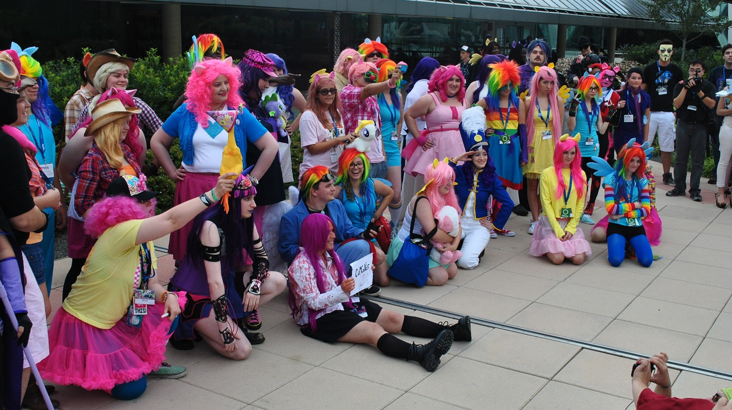 Cosplayers at BronyCon 2014.