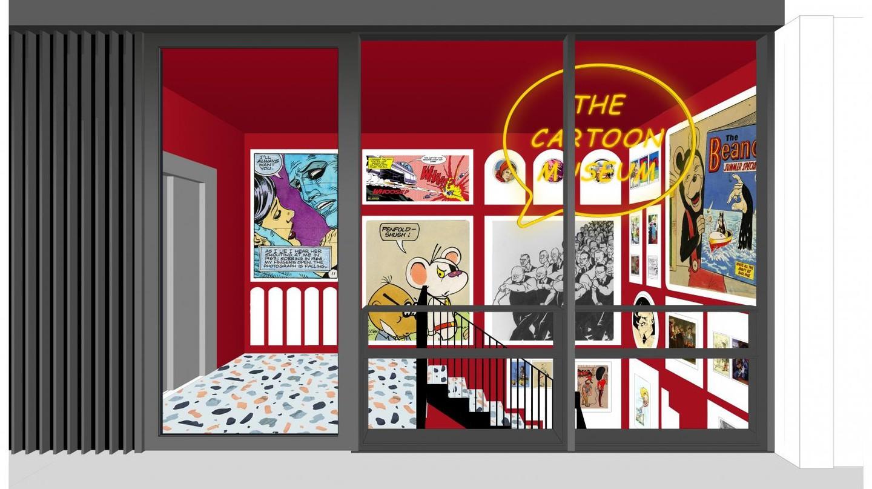 Render of new Cartoon Museum