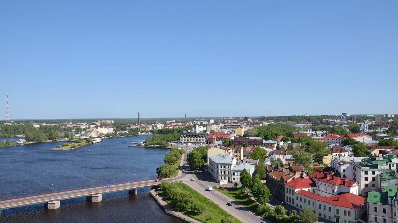 Bird's-eye view of Vyborg