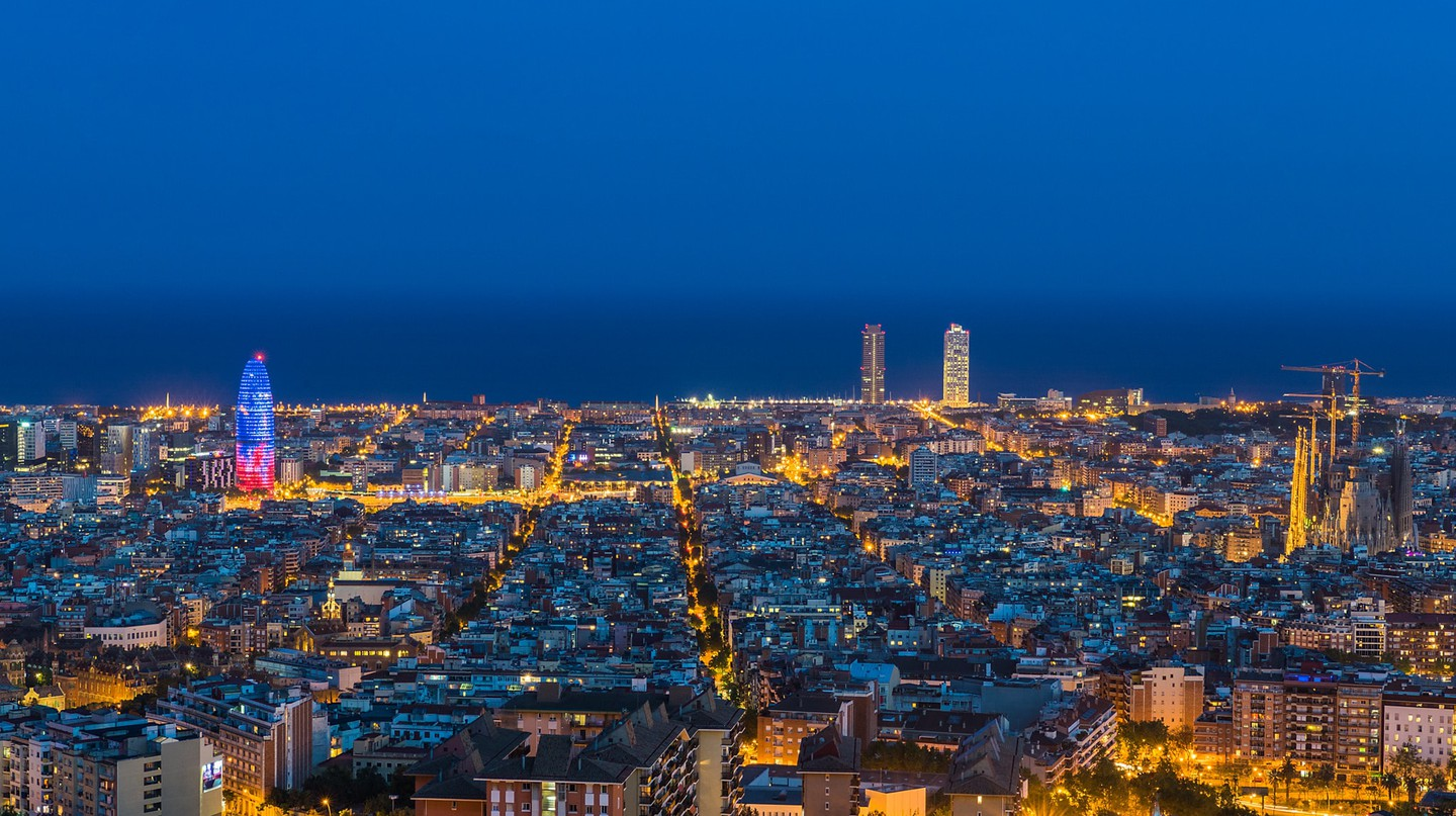 Barcelona seen from the Bunkers del Carmel