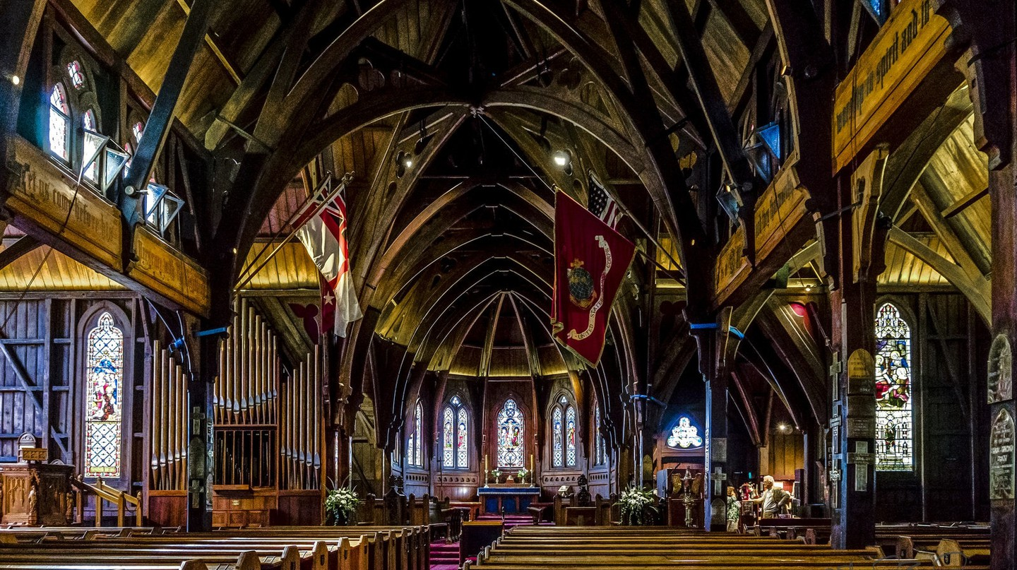 Inside Old St Paul's, Wellington, New Zealand