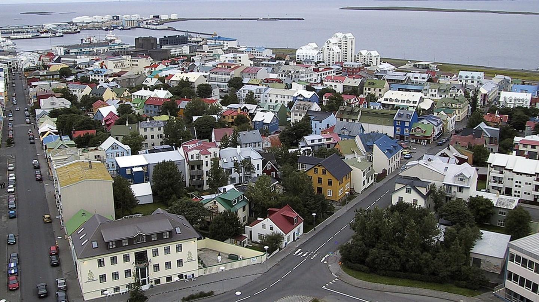 Across Reykjavik