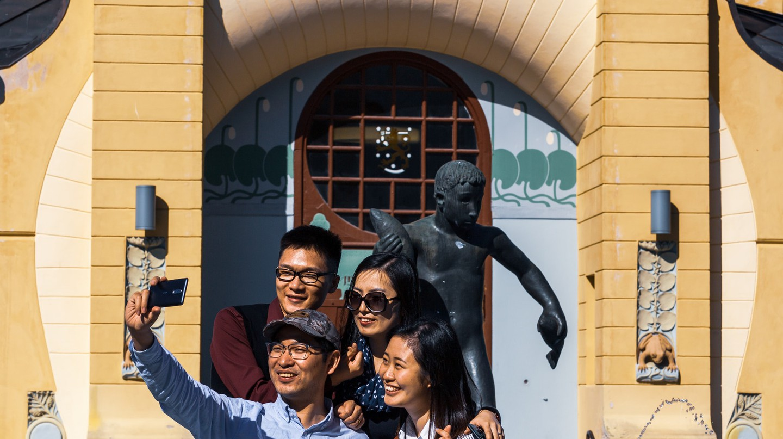 Chinese tourists visit Kuopio, Finland