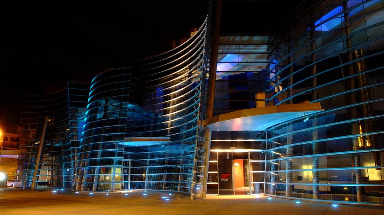 Christchurch Art Gallery at night