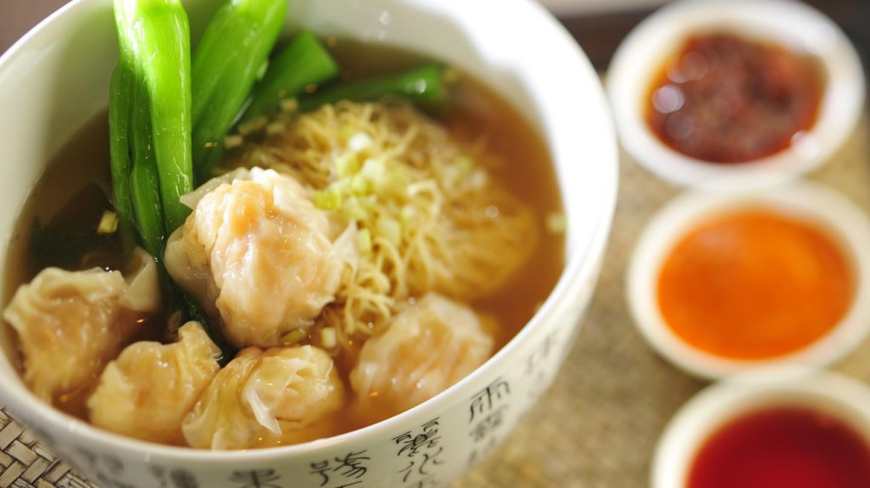 Chinese wonton noodle soup