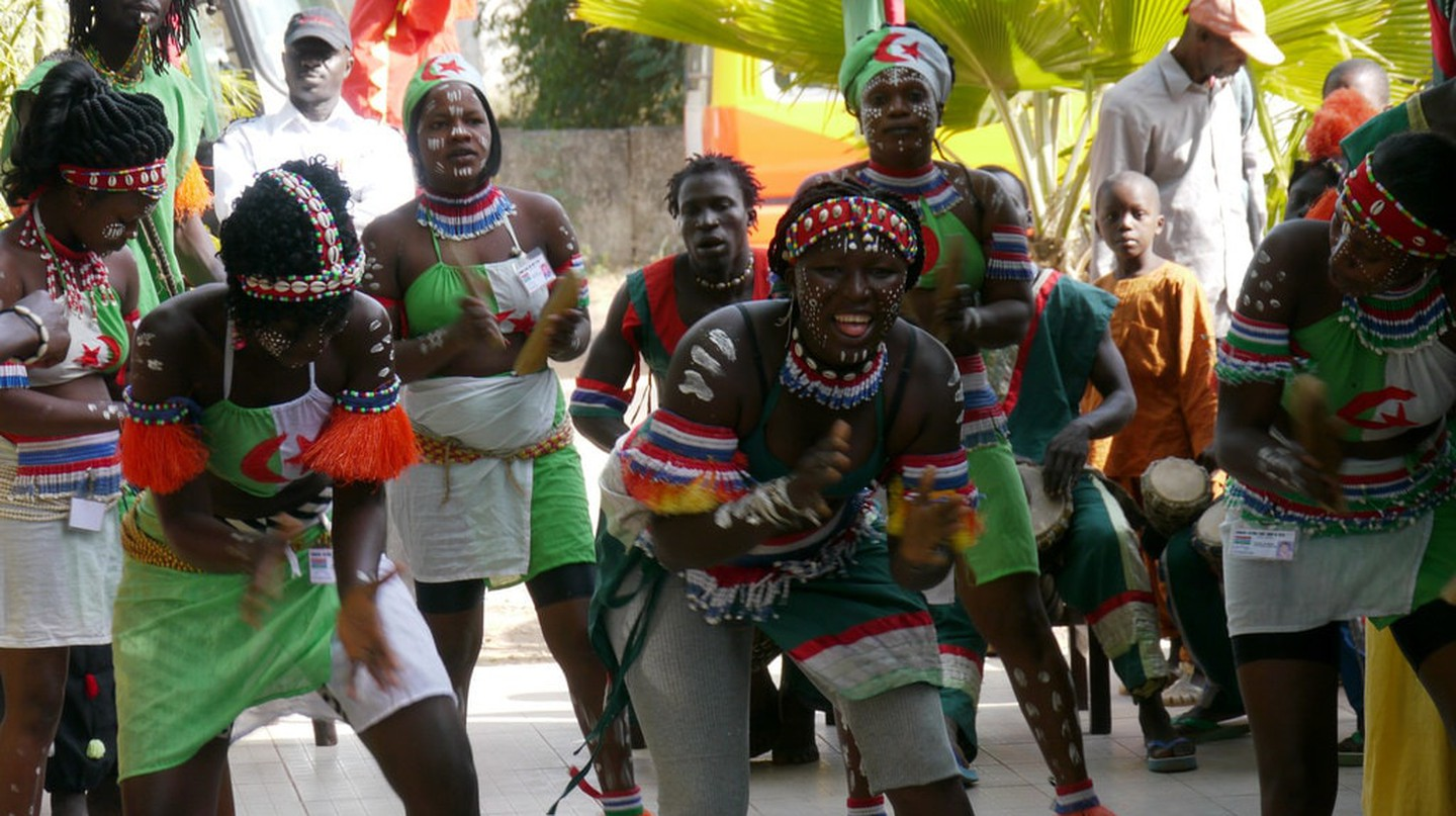 A Gambian welcome dance