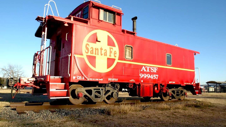 Santa Fe Caboose in Cleburne, Texas