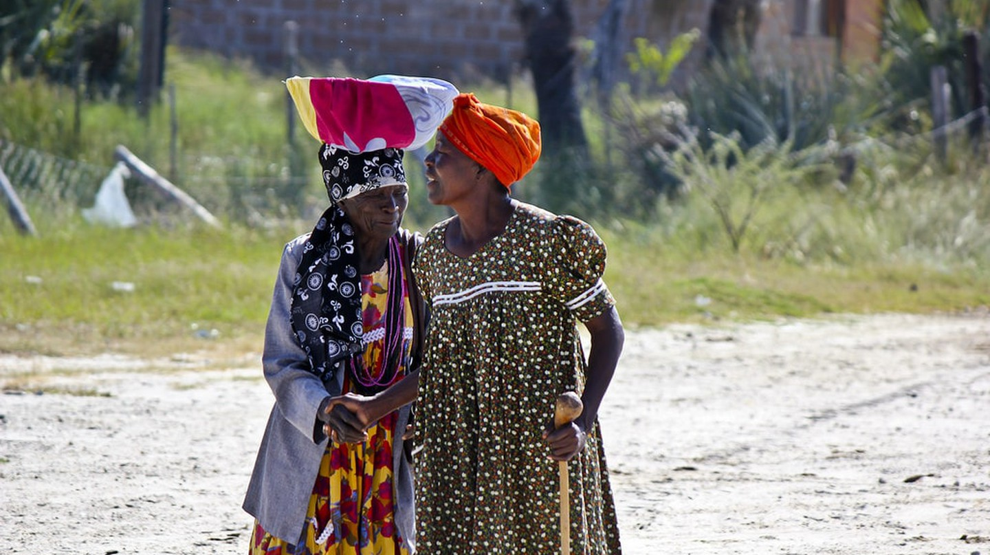Namibian women in the town of Otjiwarongo in the Otjozondjupa region.