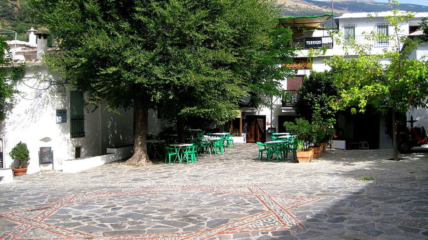 The main square in Pampaneira, in the Alpujarra region of the Sierra Nevada