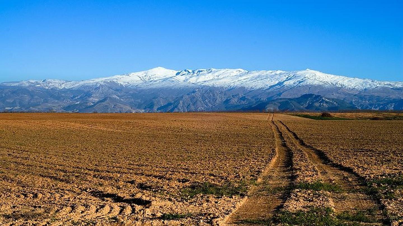 Snow-capped peaks in Spain's Sierra Nevada