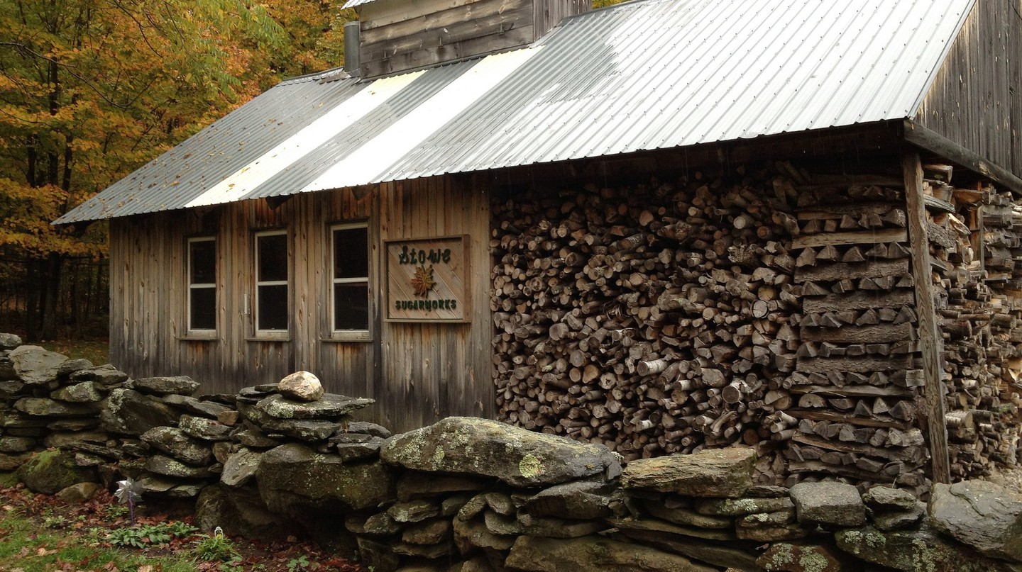 A maple syrup sugar shack in Vermont