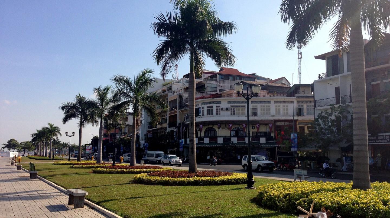 Riverside, or Sisowath Quay, in Phnom Penh, Cambodia