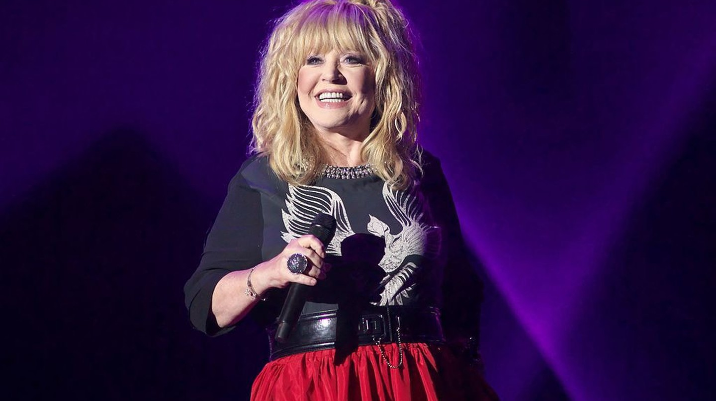 Alla Pugacheva at a music festival in Vitebsk in 2016