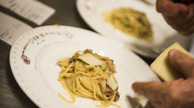 Enjoy a selection of traditional pasta dishes at Armando al Pantheon