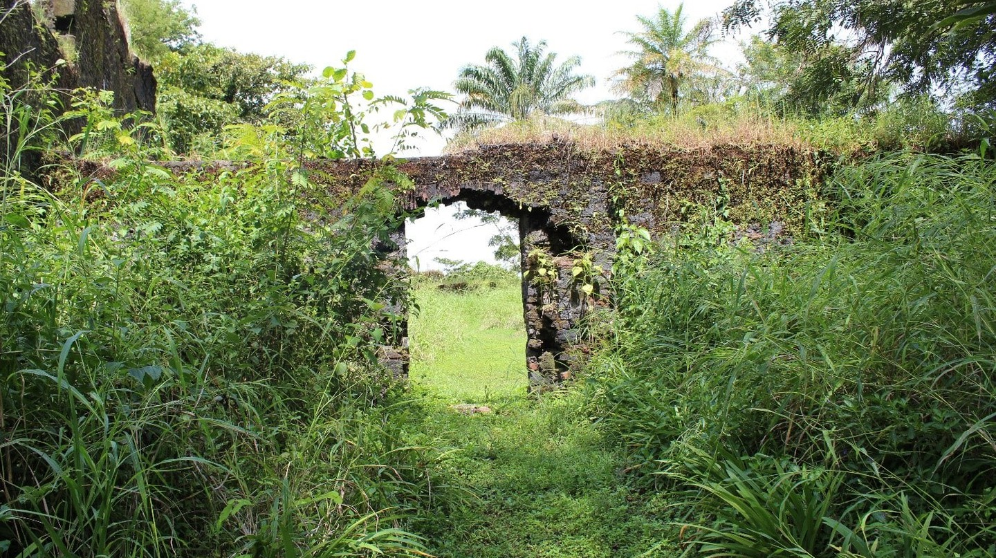 A doorway of the Bunce Island fort, Sierra Leone