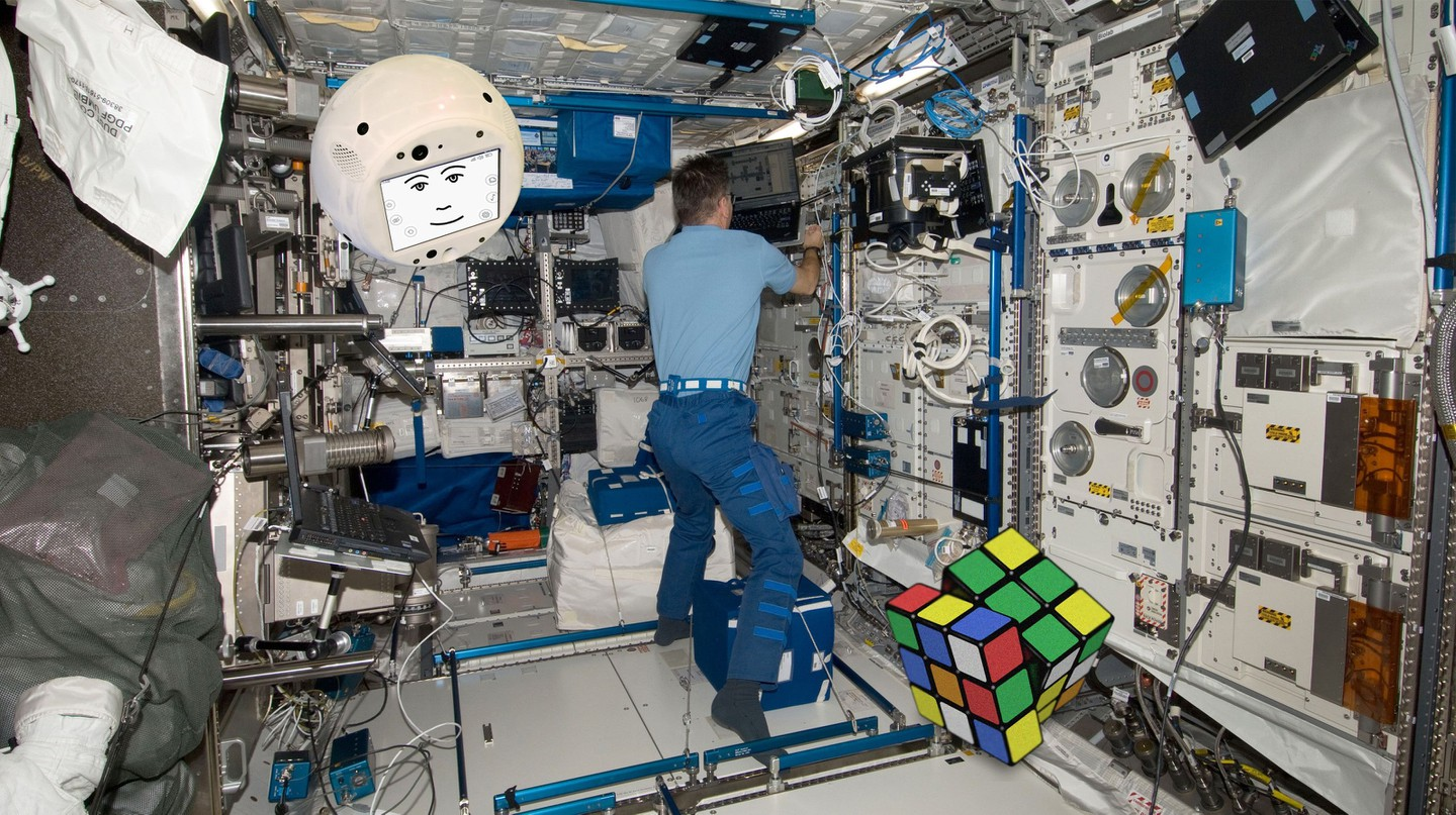 CIMON in action on the ISS