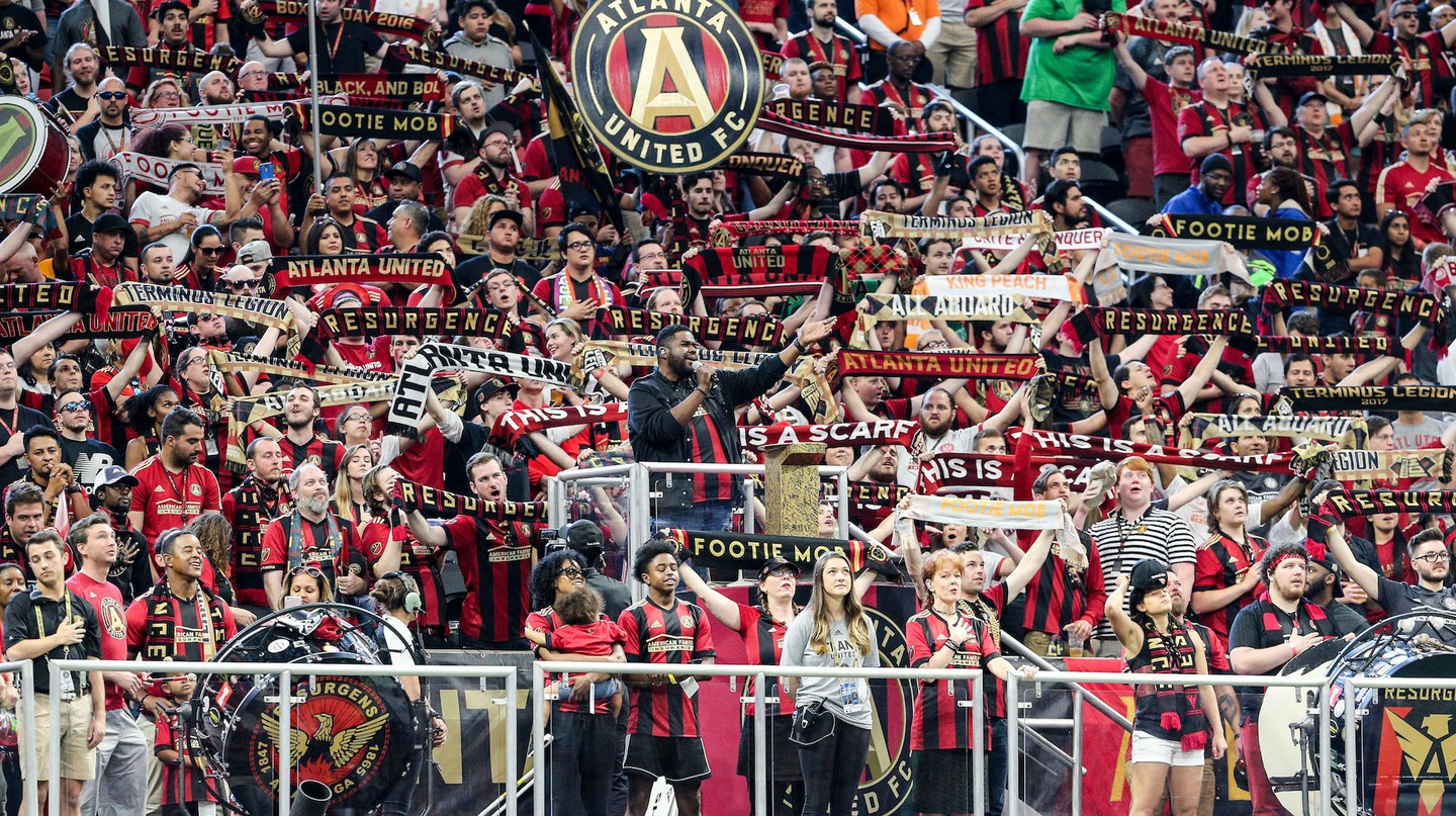 Atlanta United vs Montreal Impact at Mercedes-Benz Stadium in Atlanta.