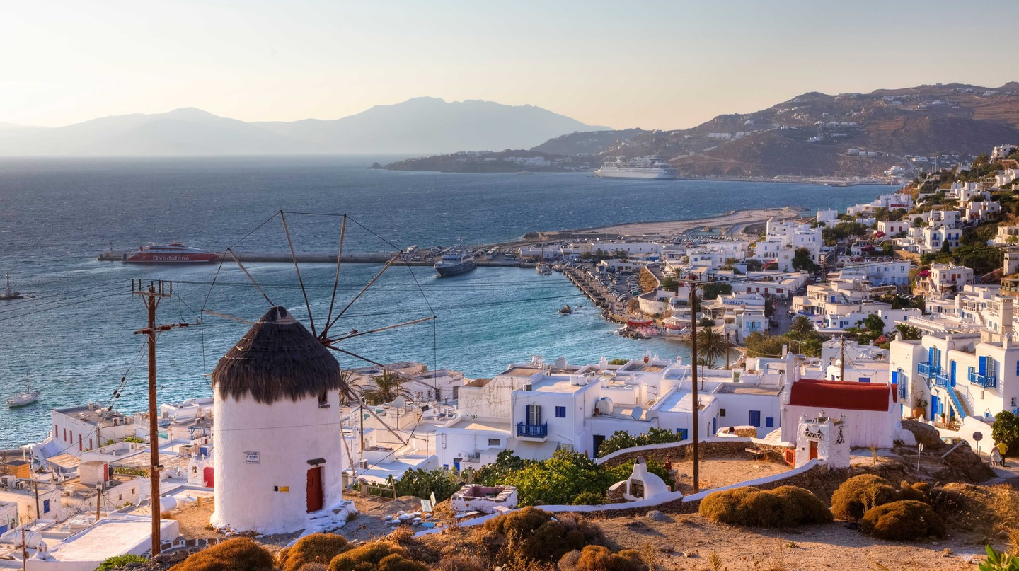 Ano Myli, upper Mill Hill, Mykonos, Greece.