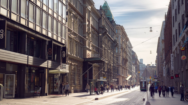 Aleksanterinkatu in Helsinki.