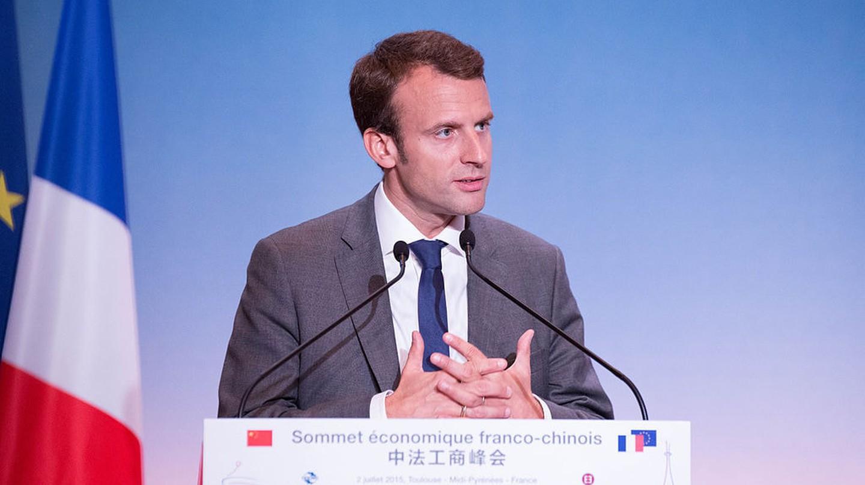 Emmanuel Macron at the Sommet Économique Franco-Chinois