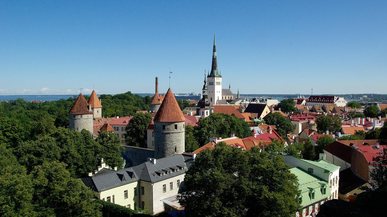 Bird's eye view of Tallinn
