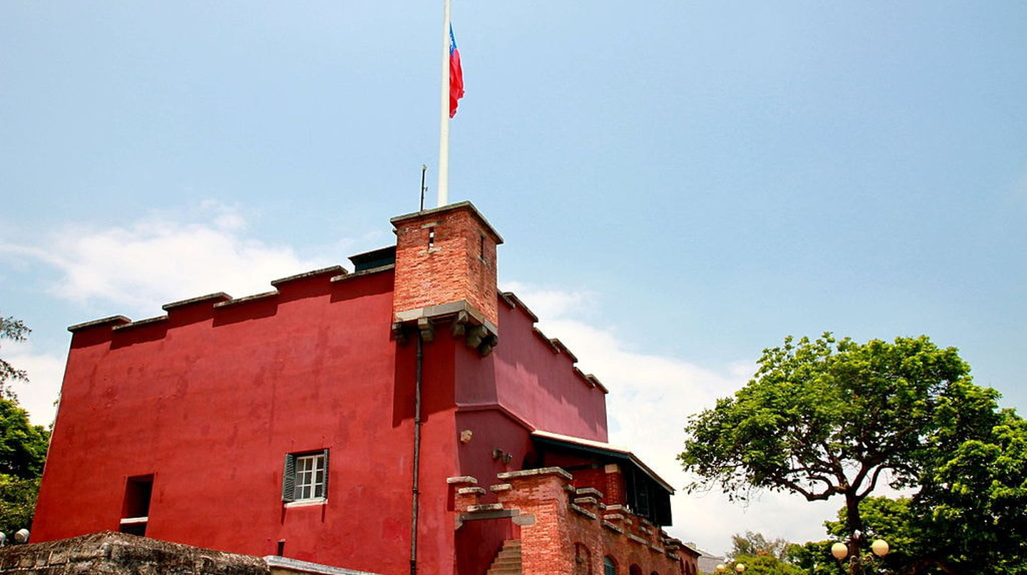 The very red Fort San Domingo