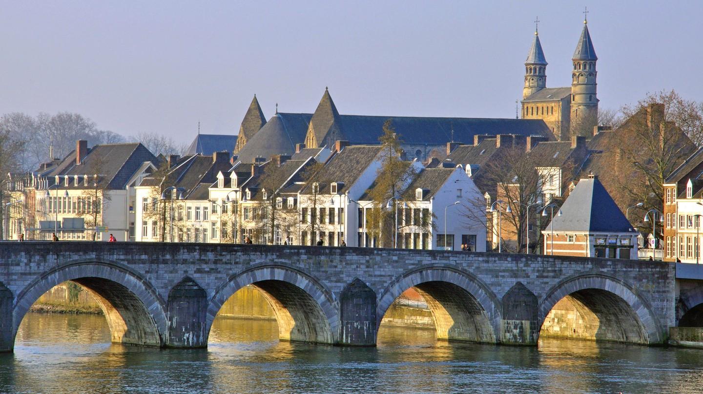 Saint Servaas bridge in Maastricht, Netherlands.