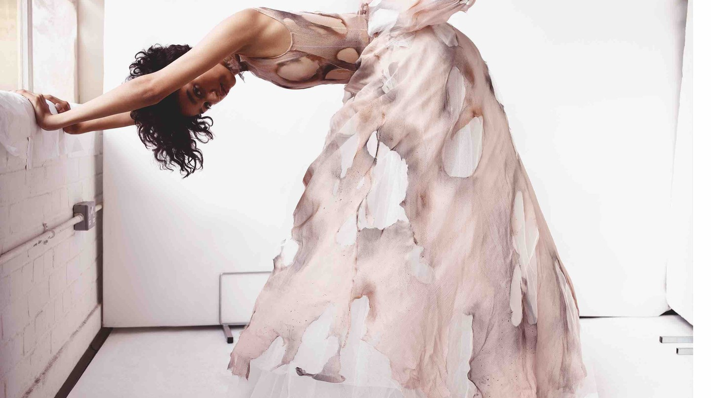 Giles Deacon haute-couture gown styled by Katie Grand, shot by Sølve Sundsbø