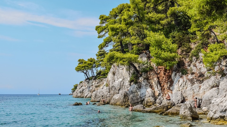 An idyllic beach in Skopelos