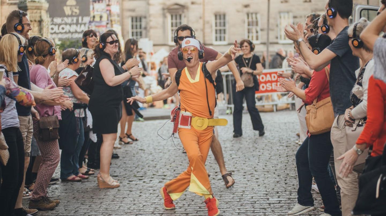 'Guru Dudu Silent Disco Walking Tours', Edinburgh Festival Fringe, Scotland