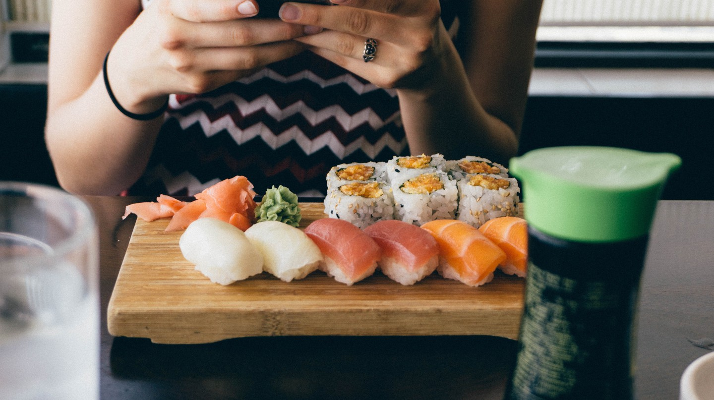 Nowadays, salmon is considered a sushi staple