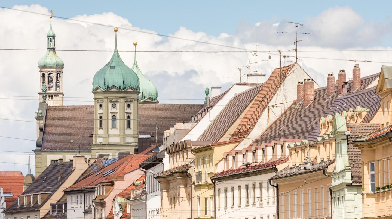 Historic hose facades in Augsburg