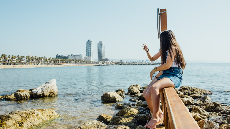 Beach in Barcelona, Spain
