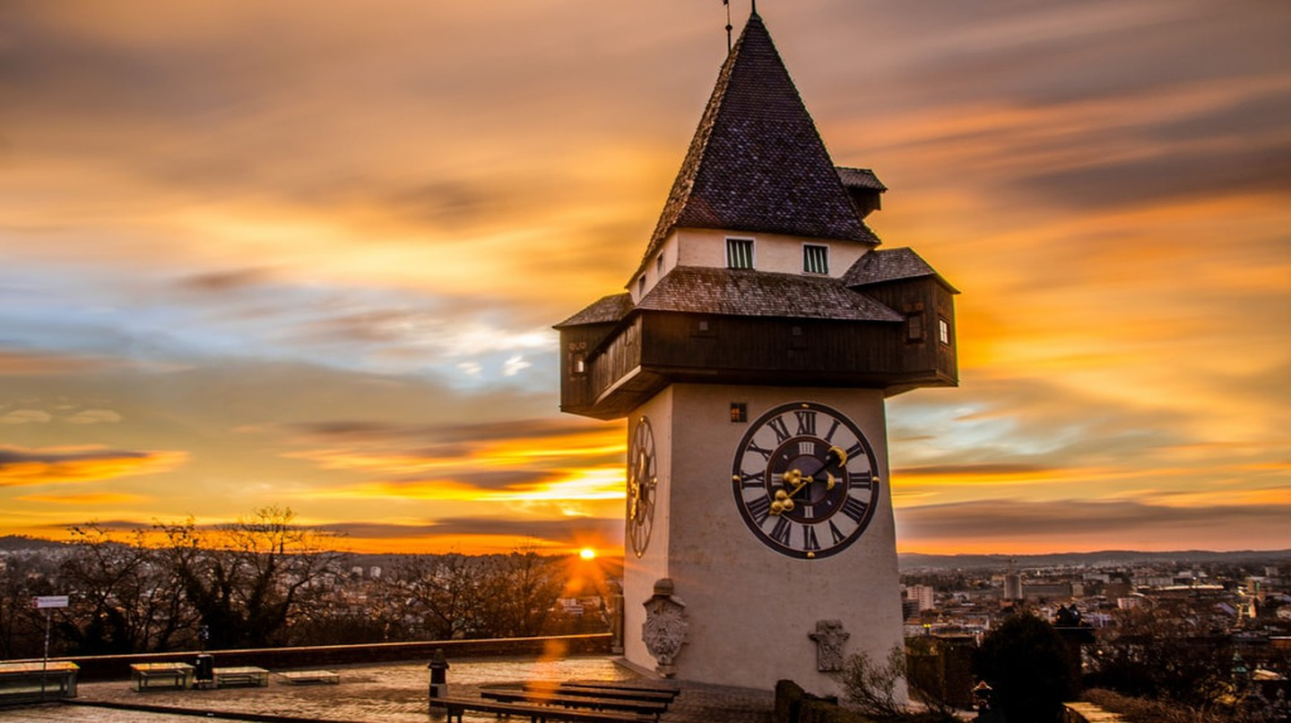 Graz at sunset