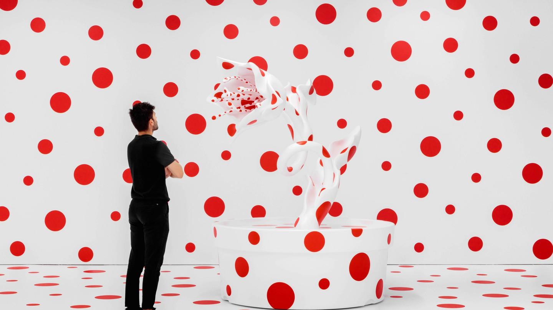 Yayoi Kusama's dotty sculptural installation