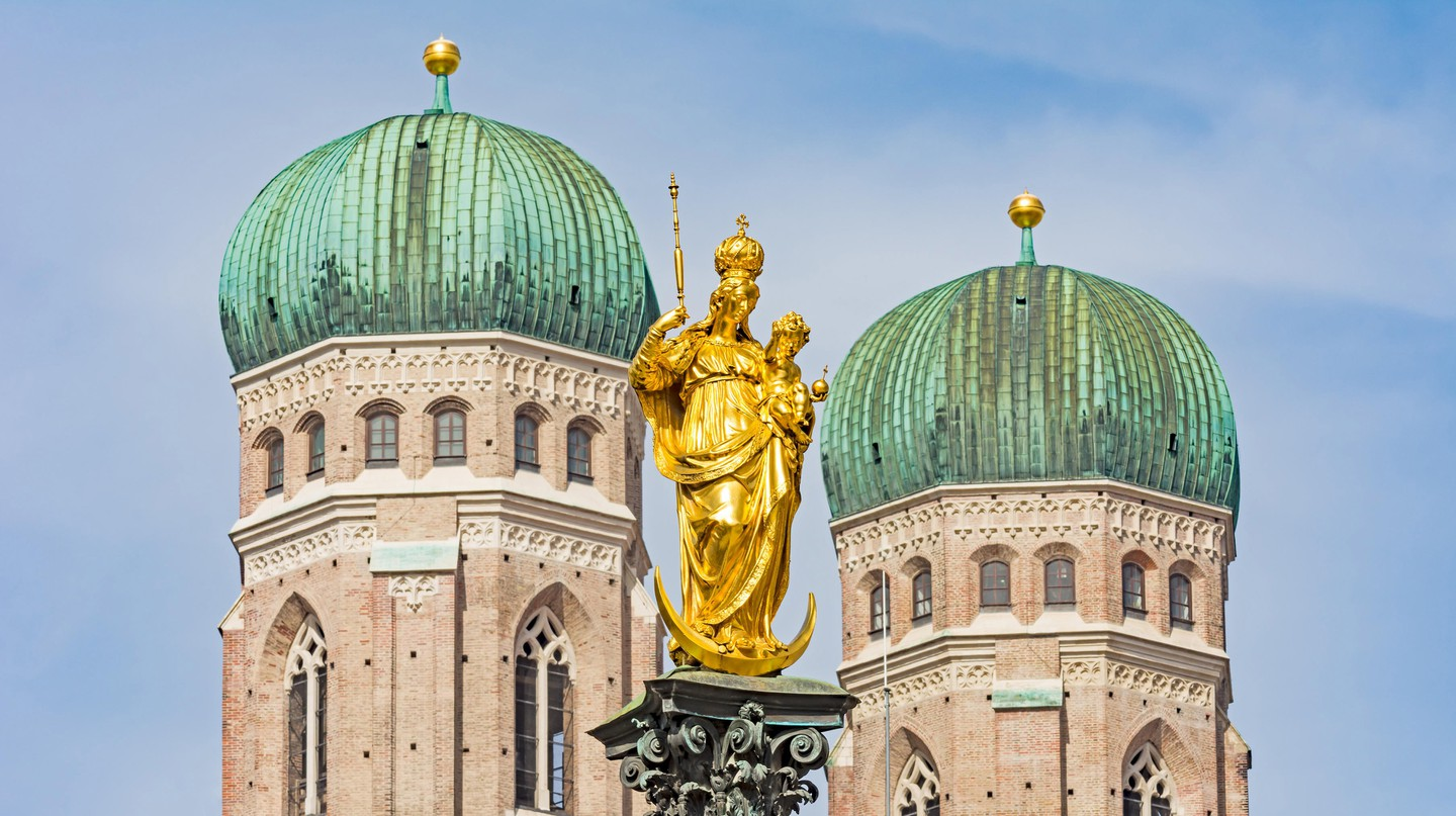The Frauenkirche cathedral in Munich, Germany.