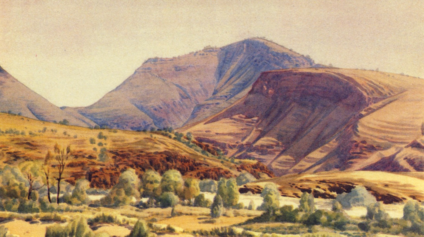 Mt. Hermannsburg by Albert Namatjira