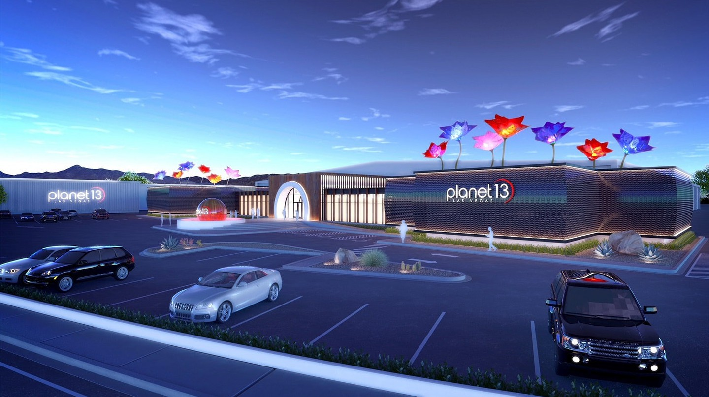 Rendering of the Planet 13 Superstore entrance