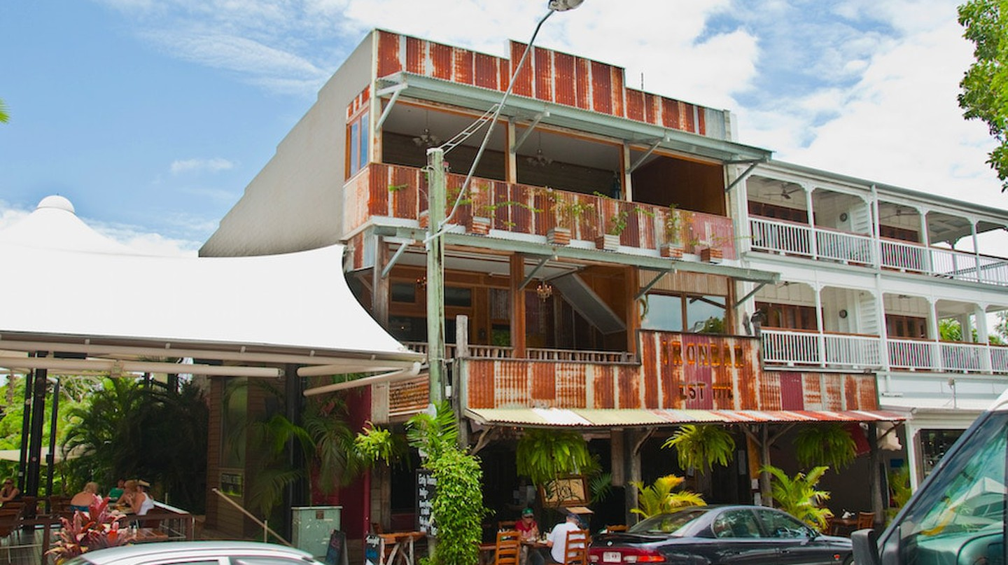 Grab a beer at the iconic Iron Bar, Port Douglas