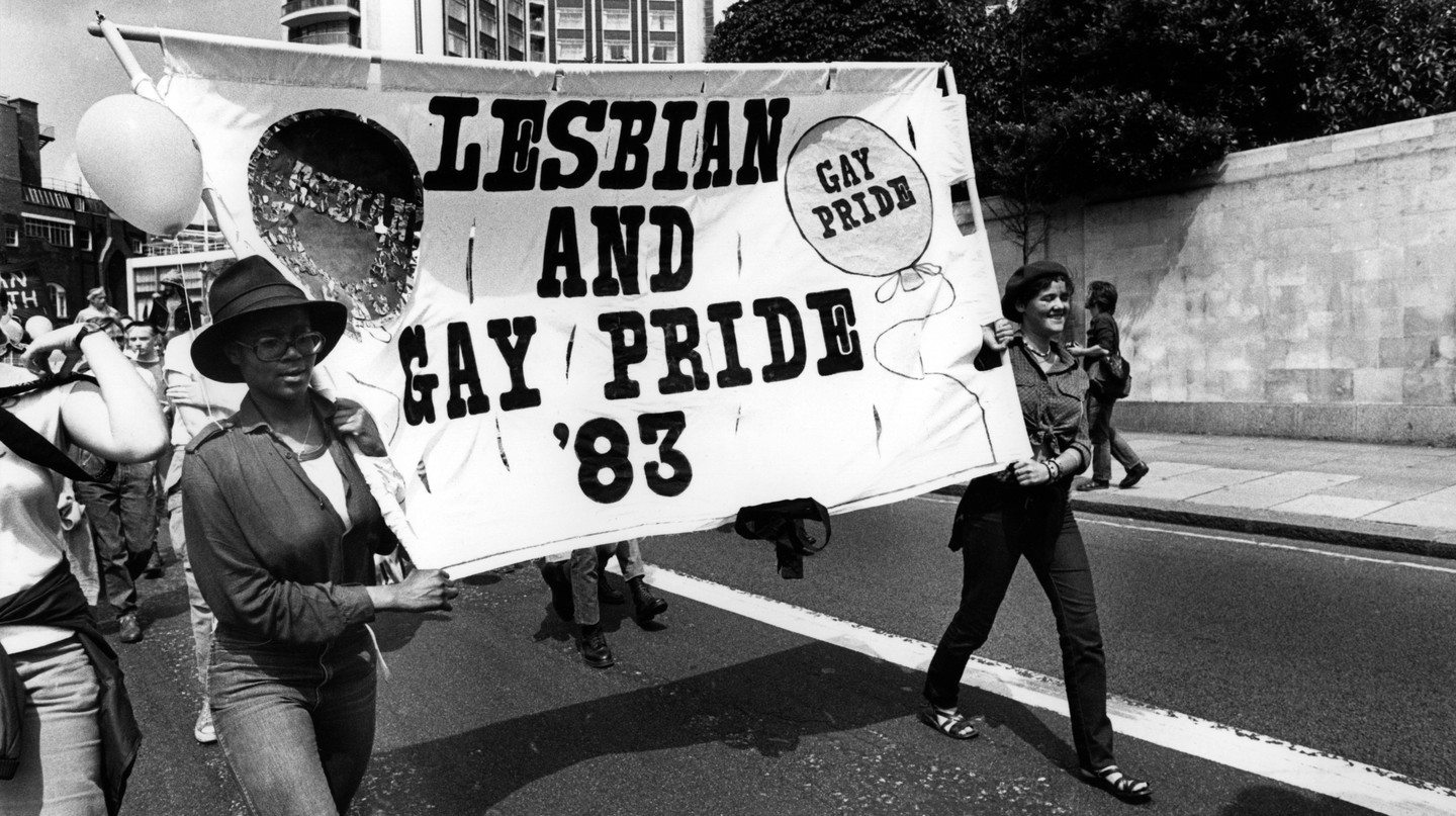 Lesbian and gay pride march, London, 1983