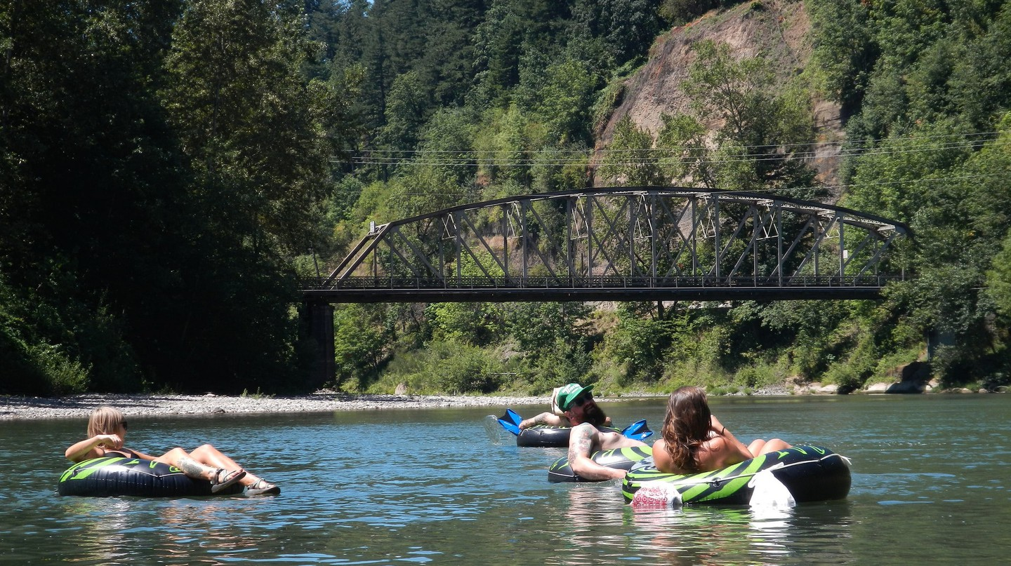 Floating the river is a favorite summer pastime in Portland.