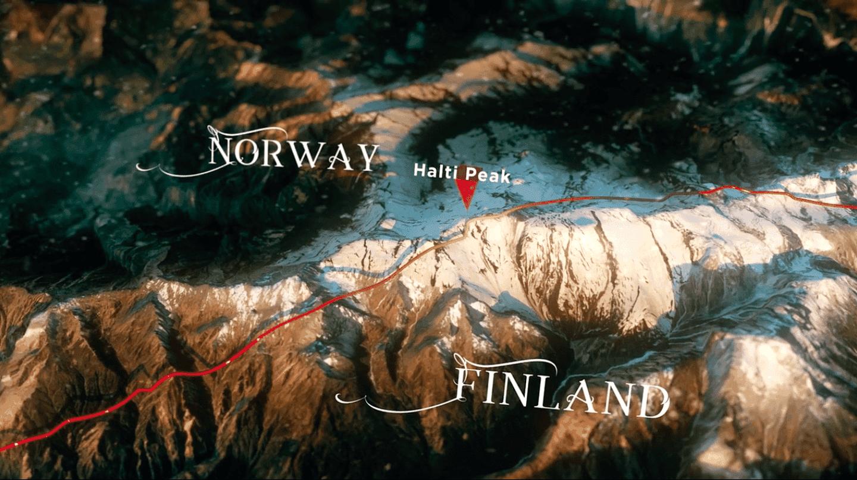 Halti peak is right across the border