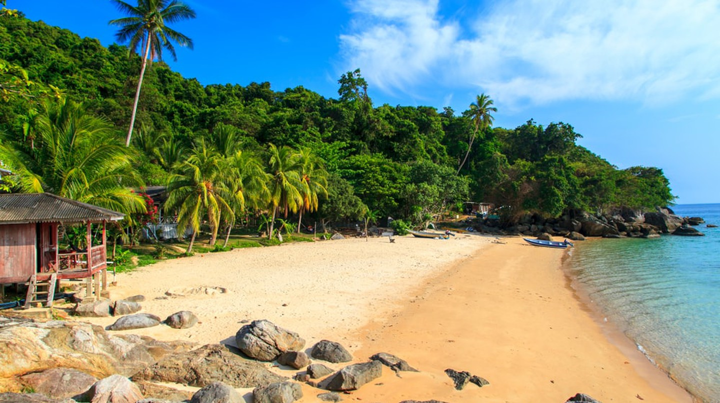 Pristine beaches in the Perhentian Islands