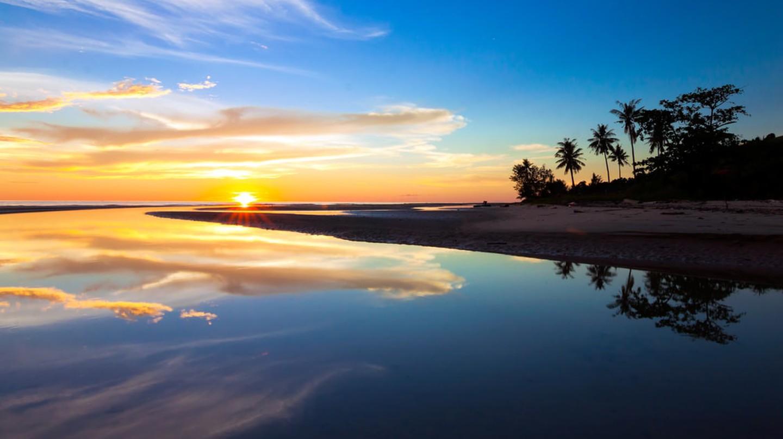 Beautiful sunset at Borneo's beach