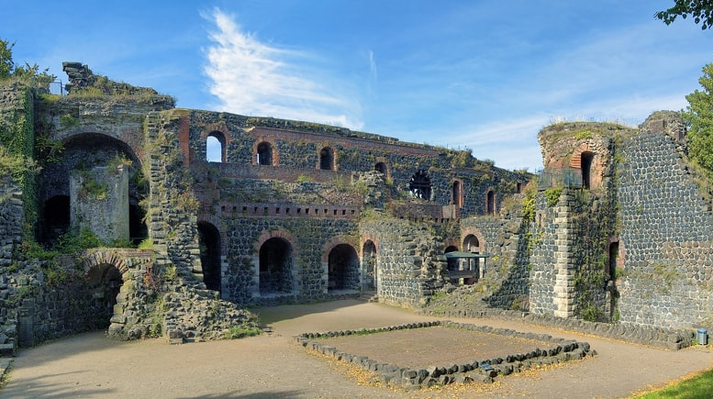 Ruins of Kaiserpfalz in Dusseldorf