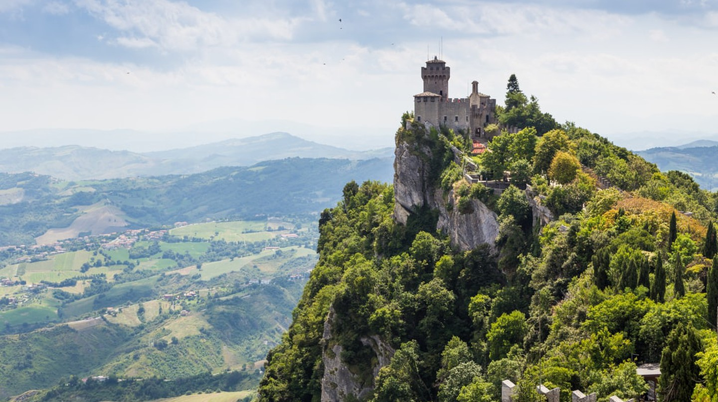 One of the three fortress towers in The Republic of San Marino