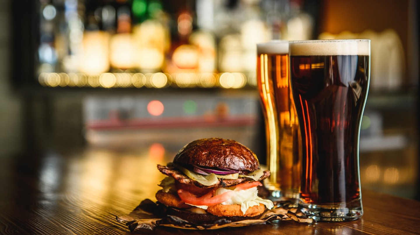 Irish pubs are a great spot for a burger and dark beer.