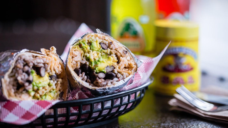 Burrito with Avocado and Black Beans