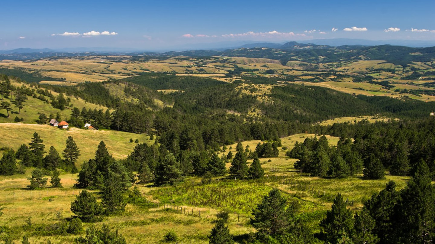 Landscape of Divcibare mountain in west Serbia